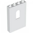 LEGO 6336553 WALL 1X4X5 W/BOWED SLIT - WHITE