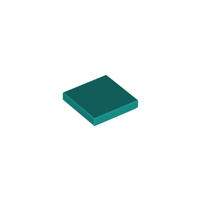 LEGO 6273853 FLAT TILE 2X2 - BRIGHT BLUEGREEN