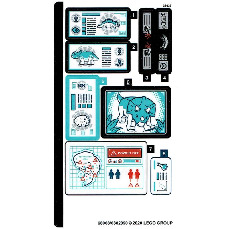 Stickers Lego® Jurassic World 75939