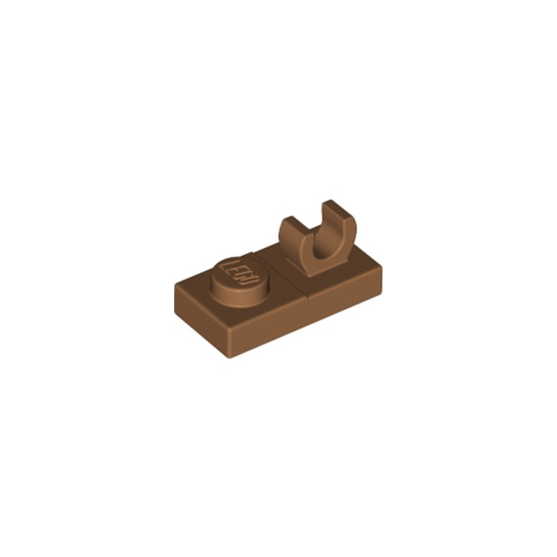 LEGO 6347304 PLATE 1X2 W. VERTICAL GRIP - MEDIUM NOUGAT