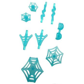 LEGO 6326582 LOT DE 9 ARMES SPIDERMAN - BLEU TRANSPARENT