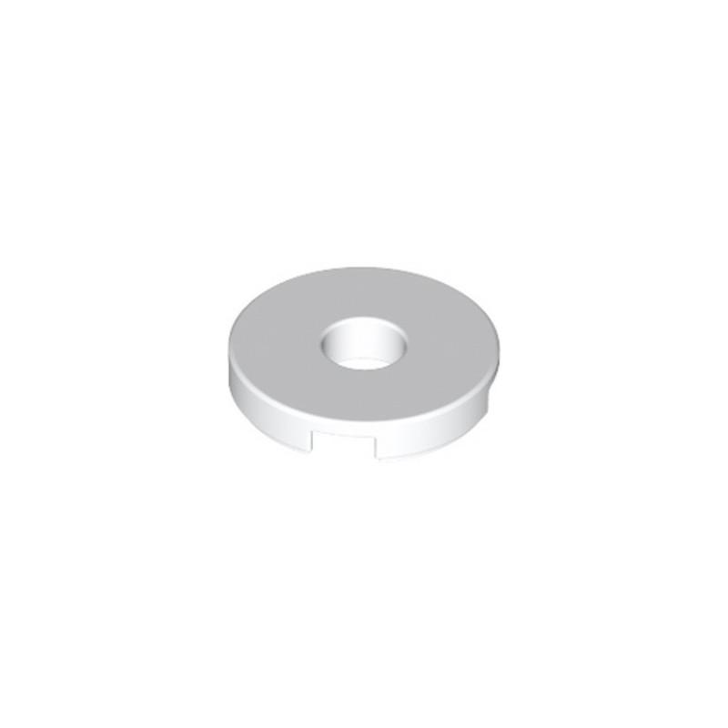 LEGO 6310185 FLAT TILE 2x2 ROUND W. HOLE Ø4.85 - WHITE