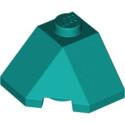 LEGO 6307898 ROOF TILE 2X2X1 45° - BRIGHT BLUEGREEN