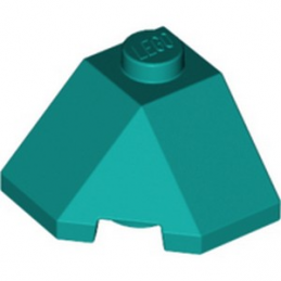 LEGO 6307898 ROOF TILE 2X2X1 45° - BRIGHT BLUEGREEN lego-6307898-roof-tile-2x2x1-45-bright-bluegreen ici :
