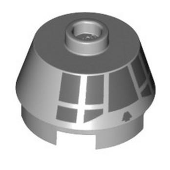 LEGO 6331545 ROUND,SLOPE BRICK W. KNOB PRINTED - MEDIUM STONE GREY lego-6331545-roundslope-brick-w-knob-printed-medium-stone-grey ici :