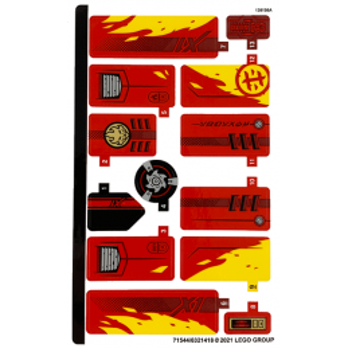 Stickers Lego® Ninjago Legacy - 71737 stickers-lego-ninjago-legacy-71737 ici :