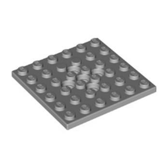 LEGO 6326482 PLATE 6X6, W/4.85 HOLE - MEDIUM STONE GREY