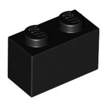 LEGO 300426 BRICK 1X2 - BLACK lego-300426-brick-1x2-black ici :