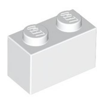 LEGO 4613964 BRIQUE 1X2 - BLANC