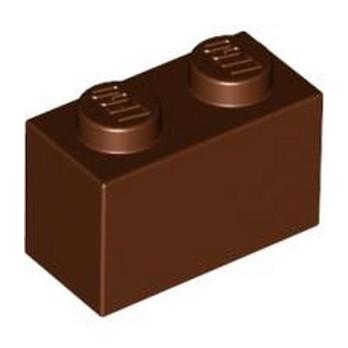 LEGO 4613963 BRICK 1X2 - REDDISH BROWN lego-4613963-brick-1x2-reddish-brown ici :