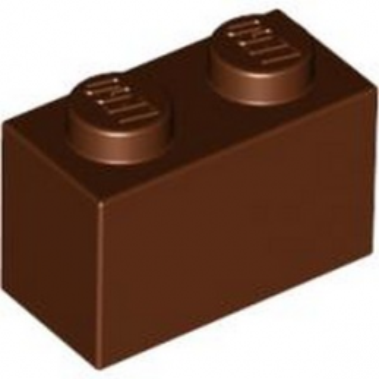 LEGO 4613963 BRIQUE 1X2 - REDDISH BROWN