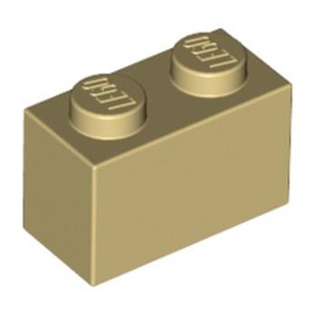 LEGO 4109995 BRIQUE 1X2 - BEIGE