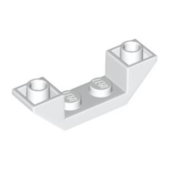 LEGO 6338001 ROOF TILE 1X4, INV., DEG. 45, W/ CUTOUT - WHITE