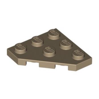 LEGO 4505141 PLATE 45 DEG. 3X3 - SAND YELLOW lego-6038637-plate-45-deg-3x3-sand-yellow ici :