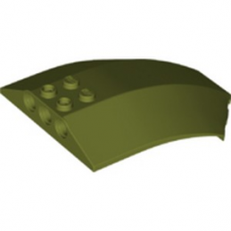 LEGO 6324189 SHELL 6X8X2 W/BOW/ANGLE - OLIVE GREEN