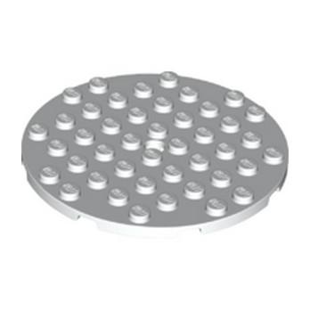 LEGO 6331510 8X8 PLATE 8X8, CIRCLE - WHITE