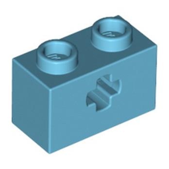 LEGO 6322830 BRICK 1X2 WITH CROSS HOLE - MEDIUM AZUR