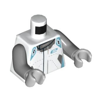 LEGO 6296875 PILOT TORSO - WHITE lego-6296875-pilot-torso-white ici :