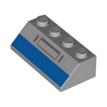 LEGO 6328203 ROOF TILE 2X3 PRINTED - MEDIUM STONE GREY lego-6328203-roof-tile-2x3-printed-medium-stone-grey ici :