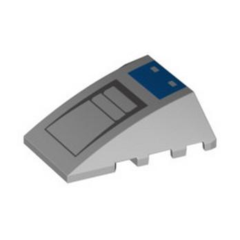 LEGO 6335831 BRICK 4X4 W. BOW/ANGLE PRINTED - MEDIUM STONE GREY lego-6335831-brick-4x4-w-bowangle-printed-medium-stone-grey ici :