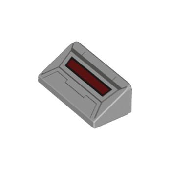 LEGO 6328222 ROOF TILE 1X2X2/3 PRINTED - MEDIUM STONE GREY lego-6328222-roof-tile-1x2x23-printed-medium-stone-grey ici :