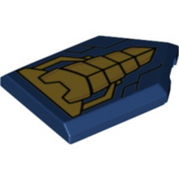 LEGO 6288585 FLAT TILE 2X3 W/ANGLE PRINTED - EARTH BLUE