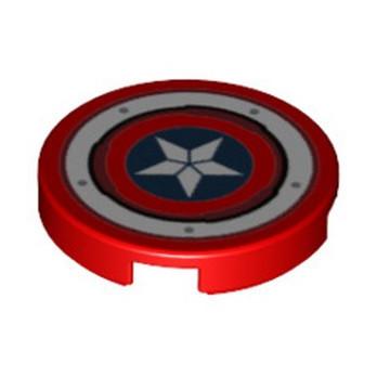 LEGO 6329741 FLAT TILE 2X2 ROUND PRINTED - RED lego-6329741-flat-tile-2x2-round-printed-red ici :