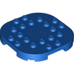 LEGO 6301629 PLATE, 6X6X2/3 CIRCLE W/ REDUCED KNOBS - BLUE