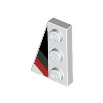 LEGO 6291433 FLAT TILE 2X3 W/ANGLE PRINTED - WHITE