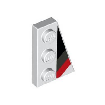 LEGO 6291432 FLAT TILE 2X3 W/ANGLE PRINTED - WHITE lego-6291432-flat-tile-2x3-wangle-printed-white ici :
