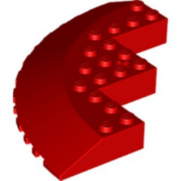 LEGO 6174306 CIRCLE 90D 10X10, WRY 18D - ROUGE