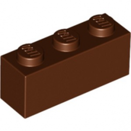 LEGO 4245312 BRICK 1X3 - REDDISH BROWN