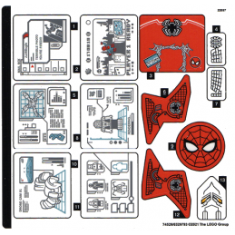 Stickers Lego® Marvel 76175