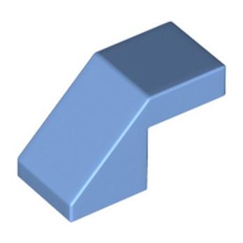 LEGO 6332360 ROOF TILE 1X2, DEG. 45, W/O KNOBS - MEDIUM BLUE