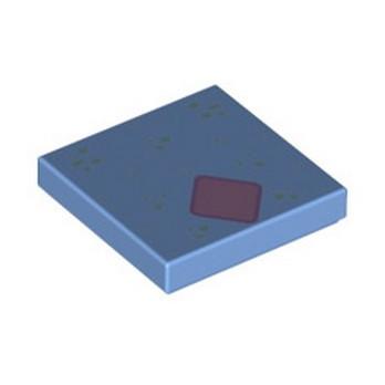 LEGO 6332375 FLAT TILE 2X2 PRINTED - MEDIUM BLUE