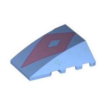 LEGO 6353075 FRONT/DISPLAY 3X4X1 2/3 PRINTED - MEDIUM BLUE