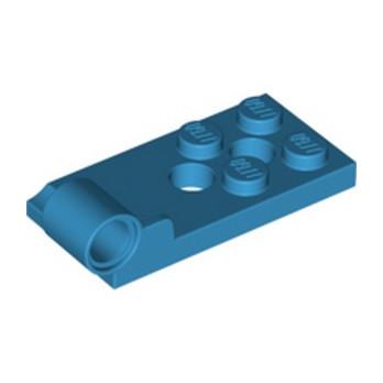 LEGO 6336861 PLATE 2X4, W/ HINGE 4,85, BOTTOM - DARK AZUR