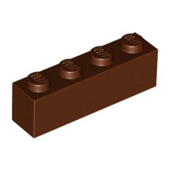 LEGO 4211225 BRICK 1X4 - REDDISH BROWN