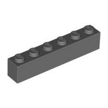 LEGO 4211100 BRICK 1X6 - DARK STONE GREY