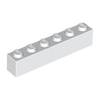 LEGO 300951 BRICK 1X6 - WHITE