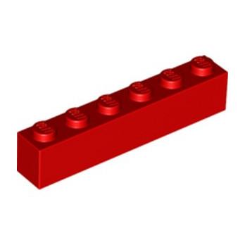 LEGO 300921 BRICK 1X6 - RED
