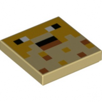 LEGO 6335321 IMPRIME 2X2 MINECRAFT - BEIGE