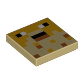 LEGO 6335321 PRINTED 2X2 MINECRAFT - TAN