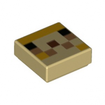 LEGO 6335322 IMPRIME 1X1 MINECRAFT - BEIGE