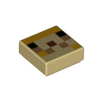 LEGO 6335322 IMPRIME 1X1 MINECRAFT - TAN