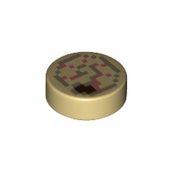 LEGO 6335323 IMPRIME 1X1 MINECRAFT - TAN