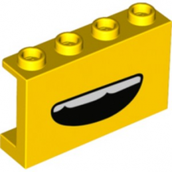 LEGO 6303547 WALL 1X4X2 PRINTED - YELLOW