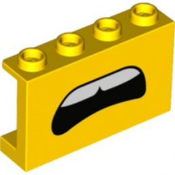 LEGO 6303551 WALL 1X4X2 PRINTED - YELLOW