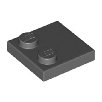 LEGO 6309059 PLATE 2X2, W/ REDUCED KNOBS - DARK STONE GREY