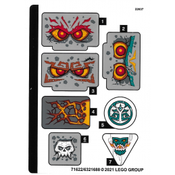 Stickers Lego® Ninjago 71747